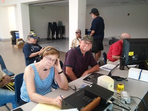 Field Day Operators Making Contacts
