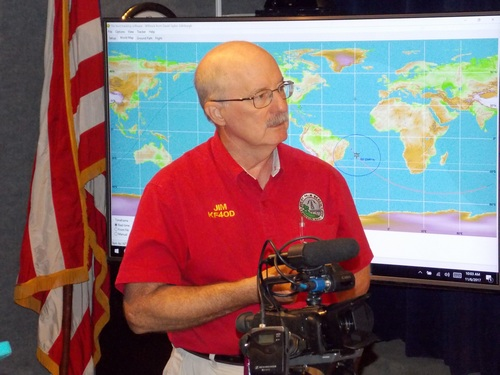 Jim Nagle, KF4OD being interviewed by media